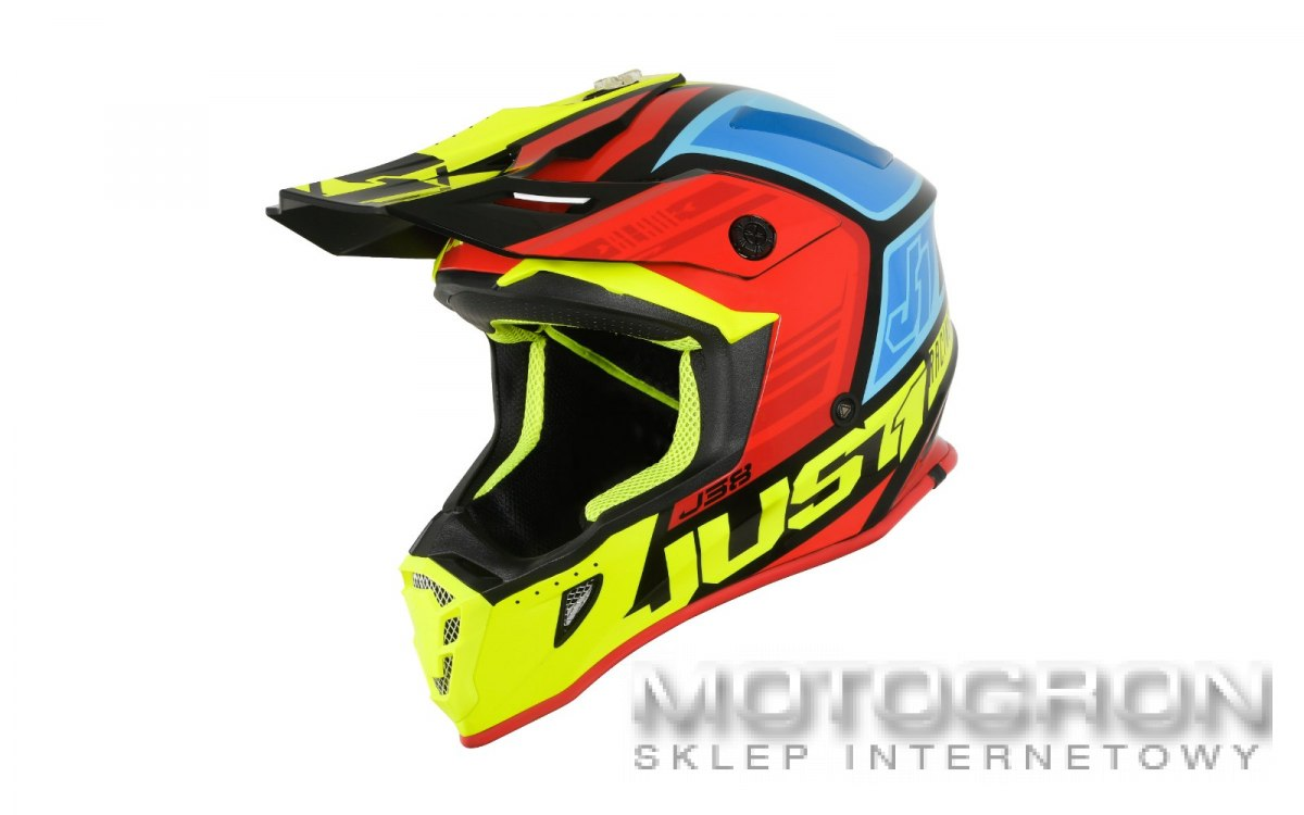 Kask JUST1 J38 BLADE Red-Blue-Yellow-Black XL